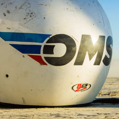 Racing Helmet with Oceanside Motorsports at El Mirage Dry Lake