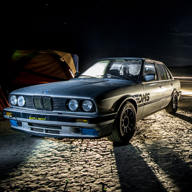 BMW E30 at El Mirage Dry Lake - Long Exposure